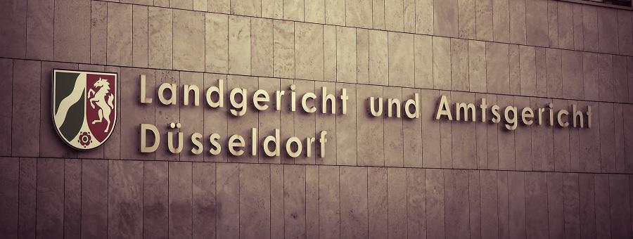 Das Gerichtsgebäude des Landgerichtes und Amtsgerichtes in Düsseldorf