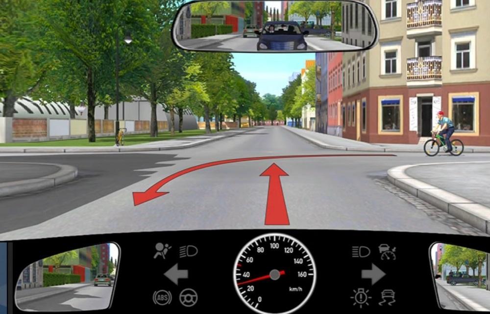Der PKW muß dem Radfahrer Vorfahrt gewähren