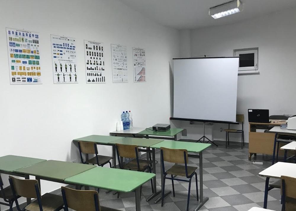 Der Ausbildungsraum für den theoretischen Fahrschulunterricht