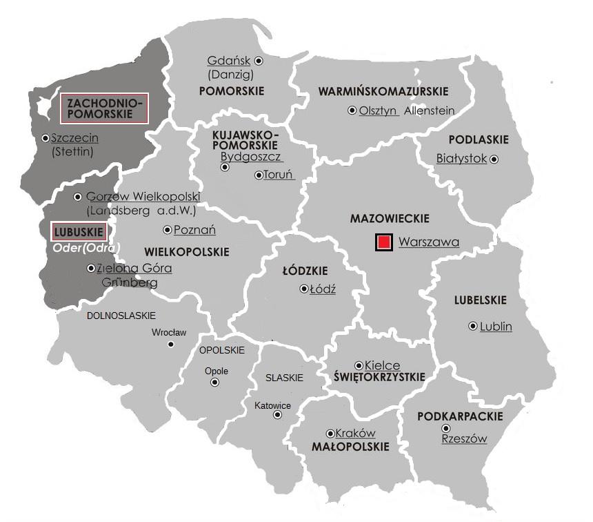 In Polen gibt es 2 Bezirke, wo es Probleme mit der Führerscheinausstellung gibt.