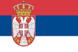 Landesfahne von Serbien