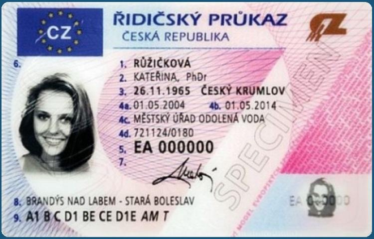 So sieht die tschechische Fahrerlaubnis im Kartenformat aus