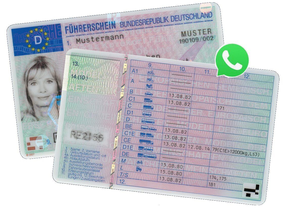 Der Führerschein aus unserem Land, welcher im Fall einer Auffälligkeit entzogen wird.