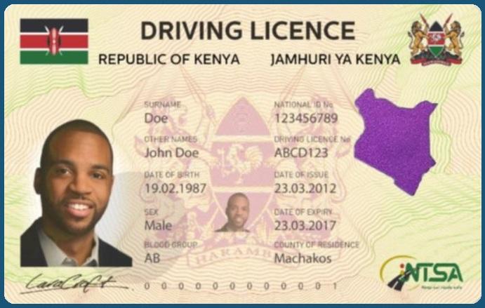 Der Kenianische Führerschein soll potentielle Kunden und Betroffene verleiten in Afrika die Fahrerlaubnis neu zu erwerben ist allerdings sehr umstritten.