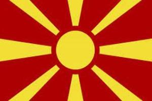 Landesfahne von Mazedonien